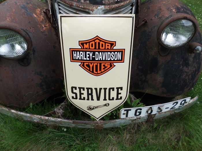 Enamel sign, Harley Davidson Motor Cycles - Service 60 x 40 cm - beginning of 21st century