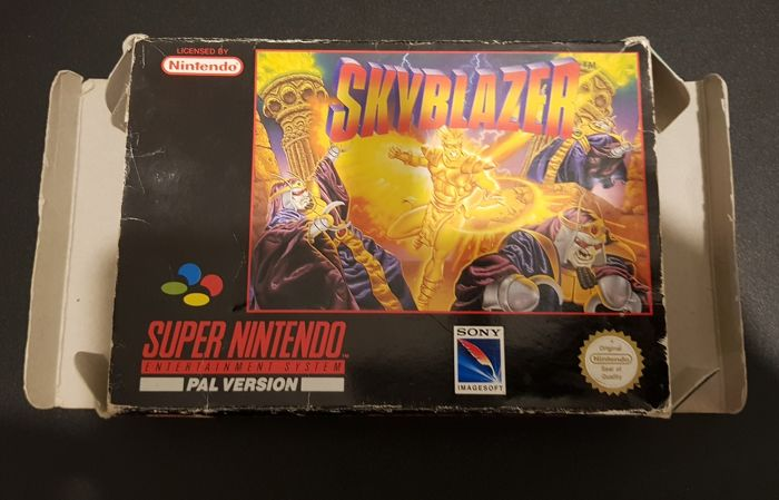 SKYBLAZER Snes Video Game With Box and Booklet