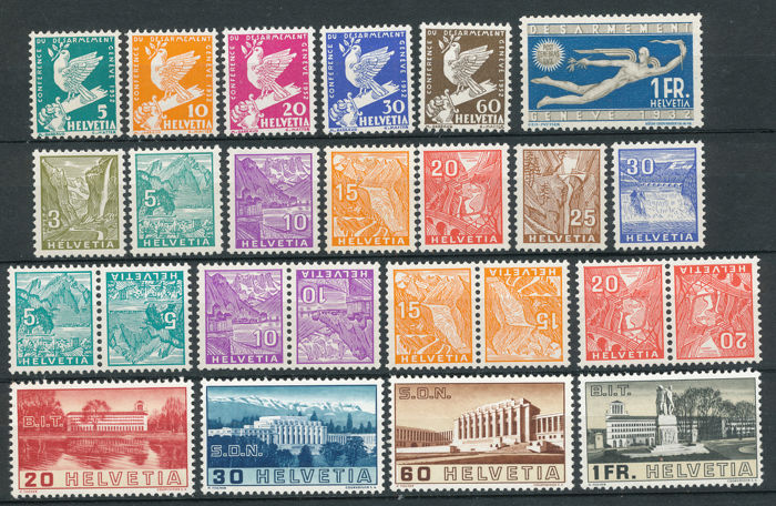 Zwitserland 1932/1938 - small selection