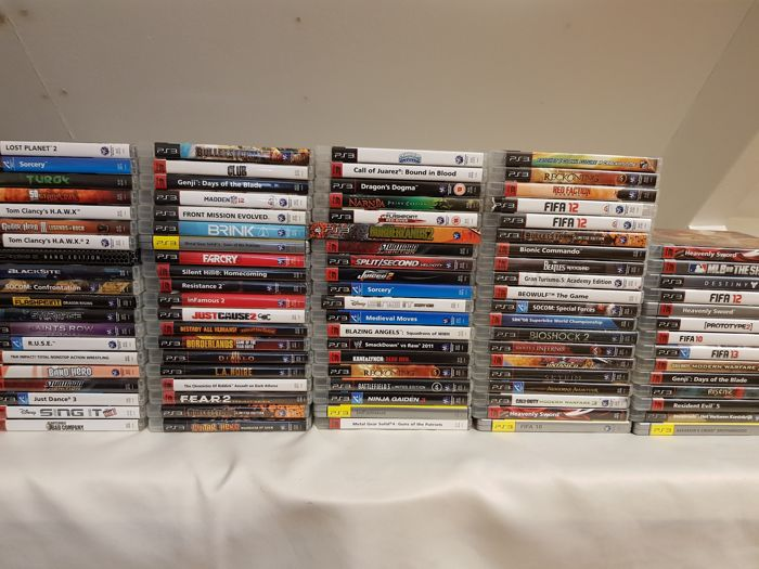 Collection of 94 great Playstation 3 games!!! (Skyrim, Bioshock, Assasins Creed and many more)