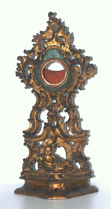 Carved wooden watch holder - Venice, Italy - ca. 1760