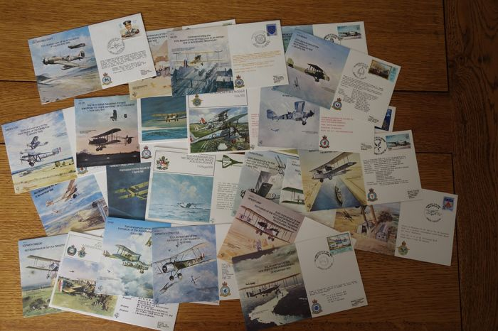 R.A.F. ROYAL AIR FORCE lot of 25 FDC - historical documents