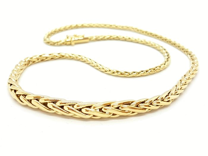 Necklace - Palm tree link - 18 kt yellow gold - Length: 45 cm