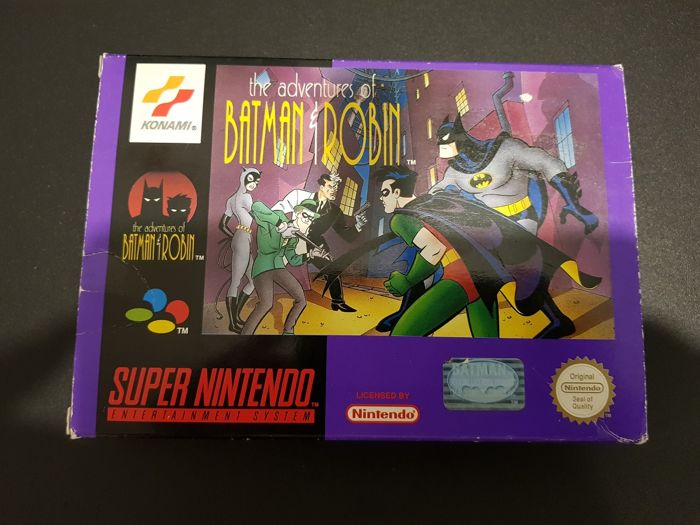 Batman & Robin - The adventures of Snes Video Game With Box and Booklet