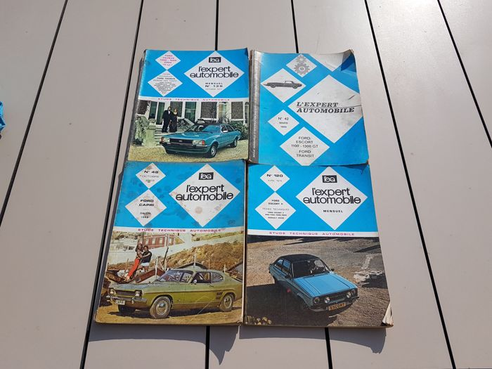 """Ford - four technical books """"l'expert automobile"""""""