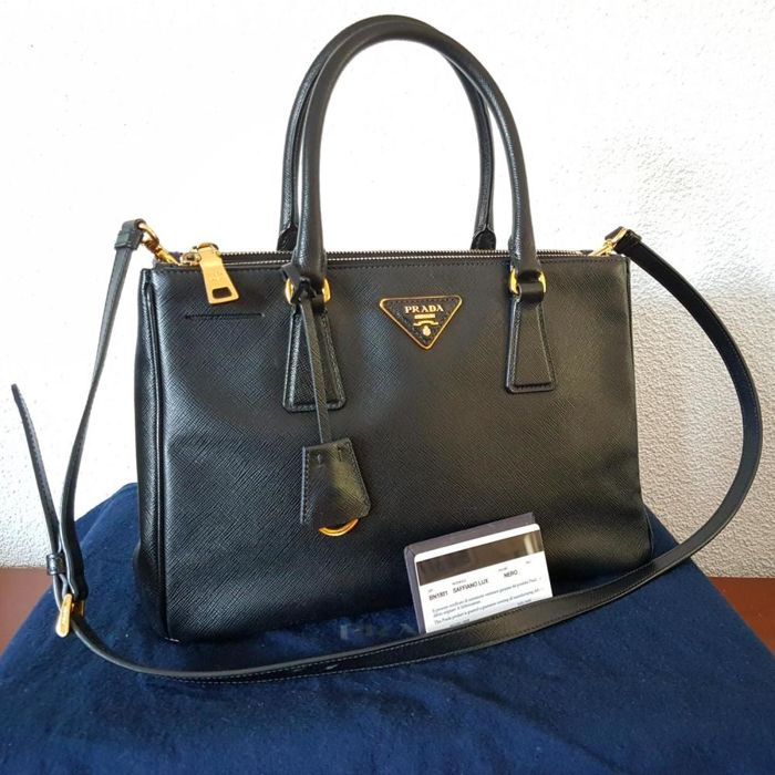 43dd1d483feb Prada - Saffiano Lux Leather Double Zip Tote bag - Catawiki
