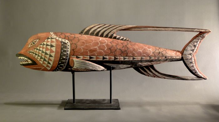 Large MALAGAN Fish figure - Tabar Island, New Ireland - Papua New Guinea