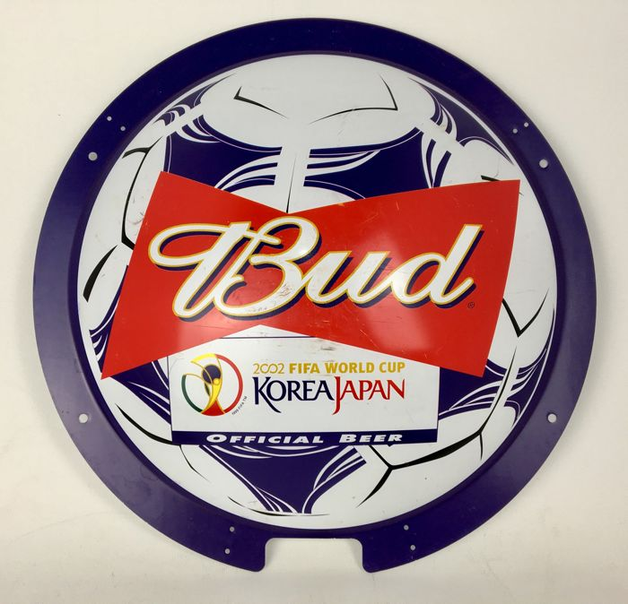 Budweiser Logo Official Sponsor FIFA World Cup 2002 Korea / Japan Advertising ( Pub Only ) Merchandise Shade