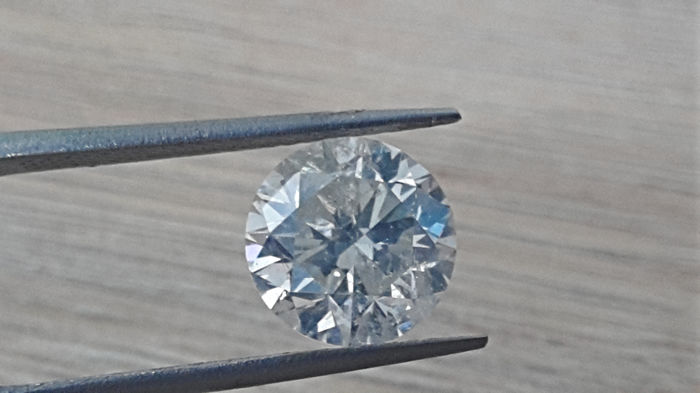 1 Diamante - 3.03 ct - Brillante - G - SI3