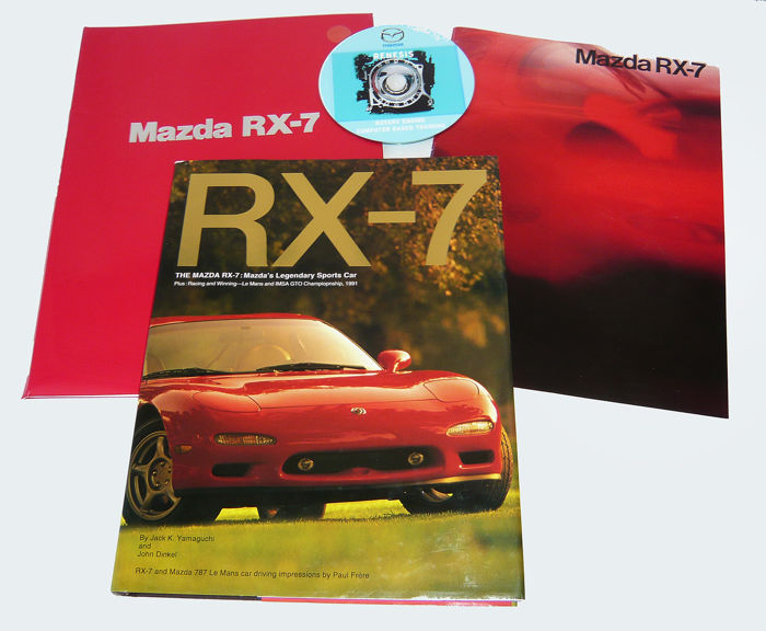 """Mazda RX-7 book, first edition: 1992 Mazda´s Legendary sports car""""  + 1991: Racing and Winning - Le Mans and IMSA GTO Championship"""