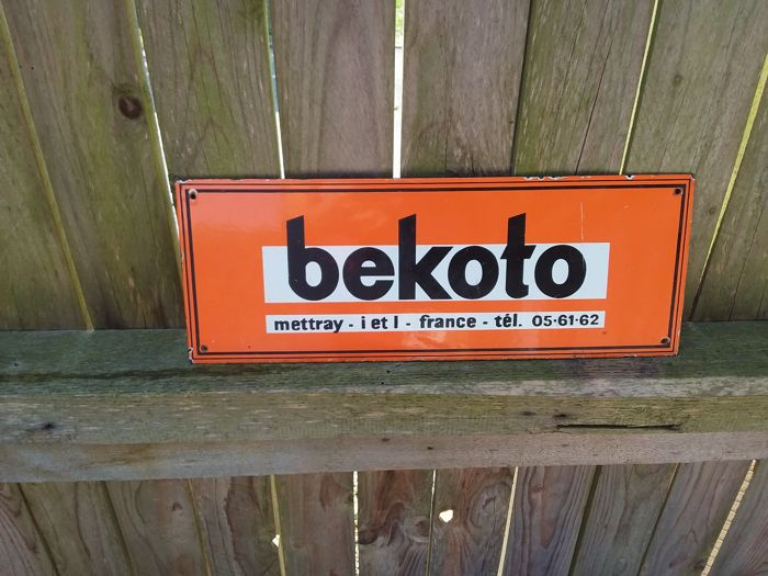 Old enamel sign bekoto - France - 1950