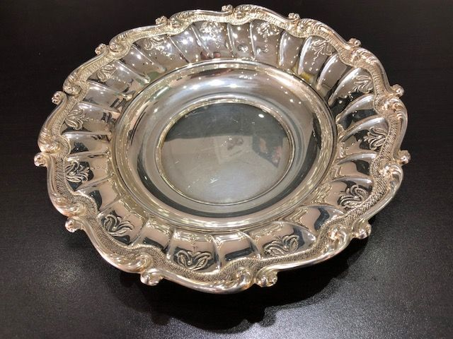 Centrepiece/Tray in silver 800 - handmade in Italy