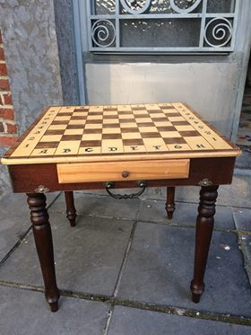 Folding Chess Table In Suitcase