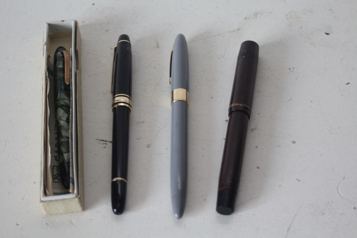 4 fountain pens including; ERO and Sheaffer's