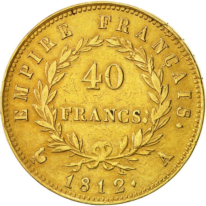 France - 40 Francs 1812 A - Napoleon I - gold