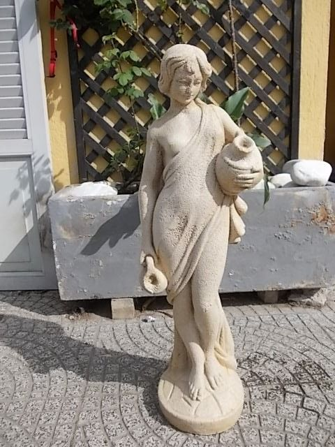 Marble dust statue for garden - Italy - c. 1960s