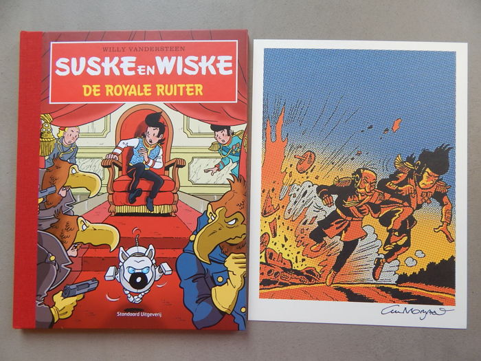Suske en Wiske 324 - De Royale Ruiter + signed print - artist's proof - deluxe hardcover with linen spine - 1st edition (2013)