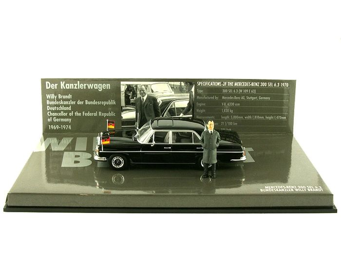 MiniChamps - 1:43 - Mercedes-Benz 300 SEL 6.3 1970 - Bundeskanzler Willy Brandt
