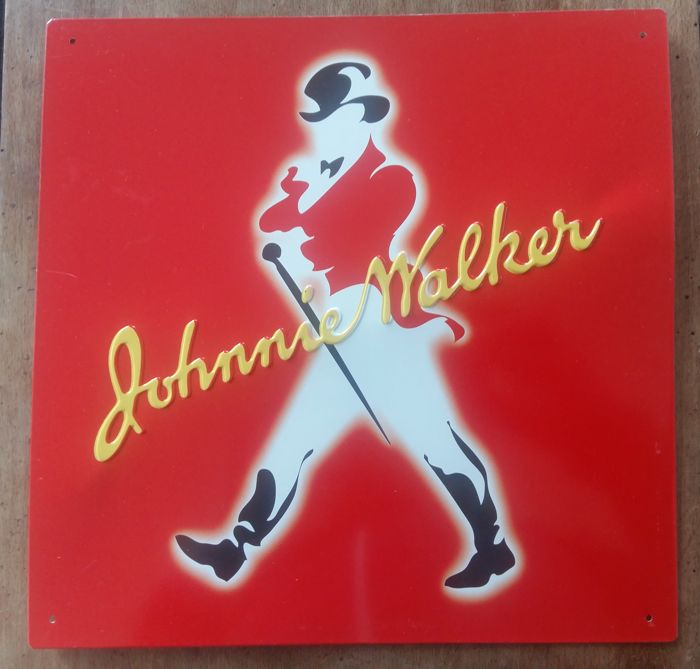 Metal sheet plate - Johnny Walker Scotch Whisky - 1980s