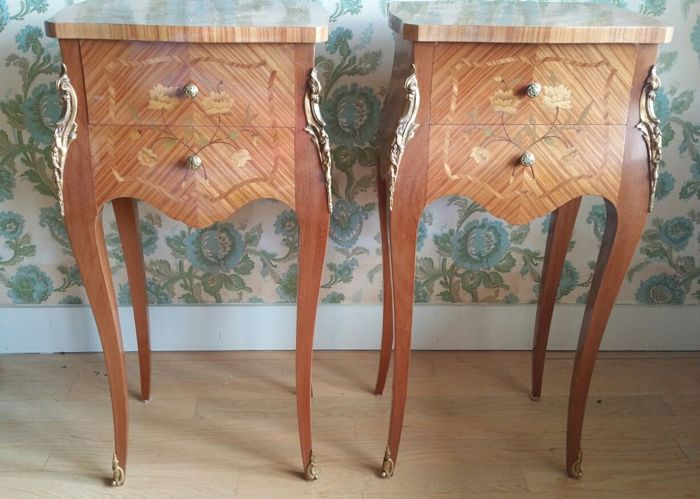 Pair of nightstands style Louis XV, France, around 1950