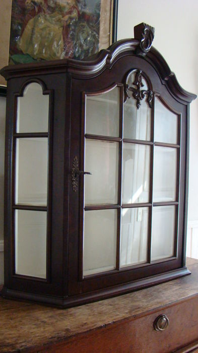 Mahogany display cupboard - the Netherlands - 2nd half of the 20th century