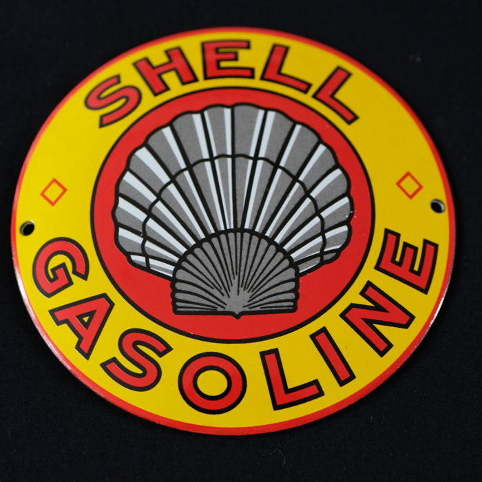 Shell emaille logo  - Gasoline -
