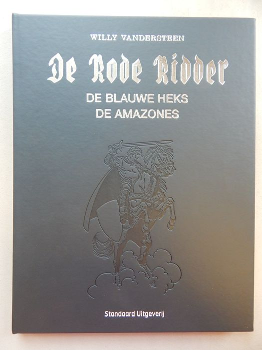 De Rode Ridder 208/211 - De Blauwe Heks + De Amazones + signed print - Author's copy - deluxe (synthetic) leather hc in large size - 1st edition (2014)