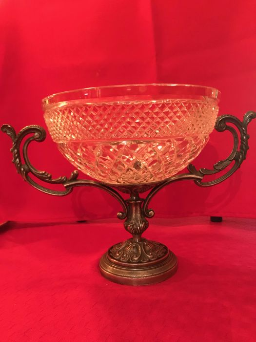 Crystal and pewter Cup - 20th century