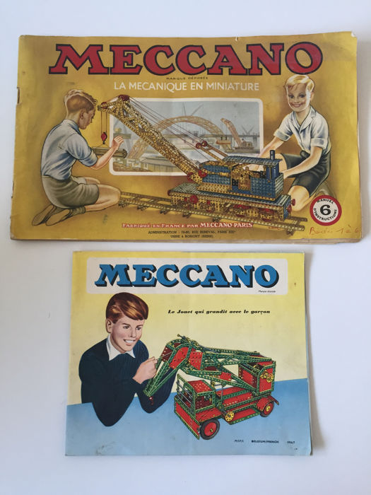 Meccano. Manuel d'instructions 6 + folder - 1956