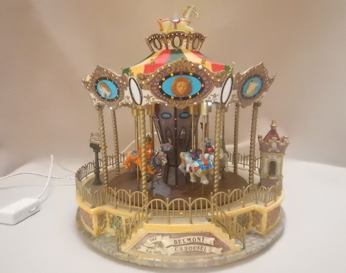 Animal carousel with light and music - Lemax Belmont carousel