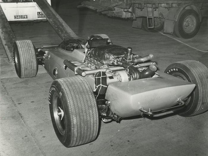 1969  Lotus 56 Indianapolis Car factory  original photograph