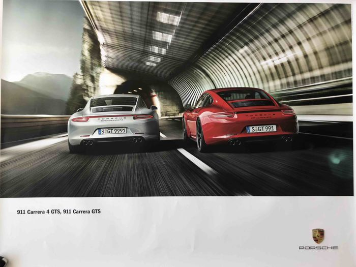 Official Porsche - Advertising poster - Porsche 911 Carrera 4 GTS & 911 Carrera GTS - 2014