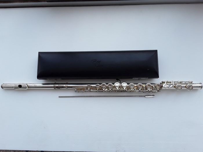 Excellent Ragtime flute in the original leather box, 21st century, transverse flute