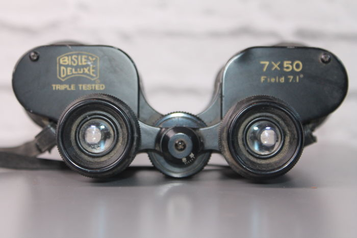 Large & Heavy Vintage Binoculars by Bisley Deluxe- Japan 20th Century