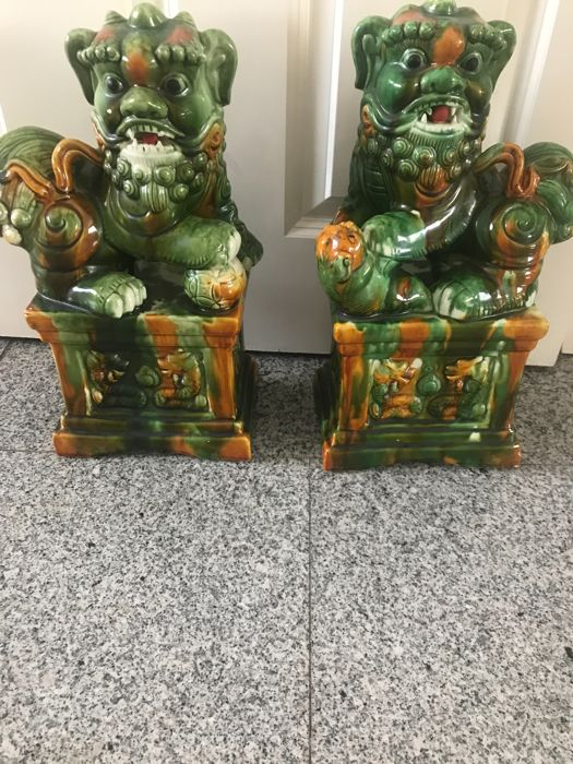 Set tempel wachters foo dogs - China - midden 20e eeuw