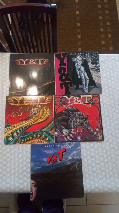 Y&T x 5 records job lot All first press