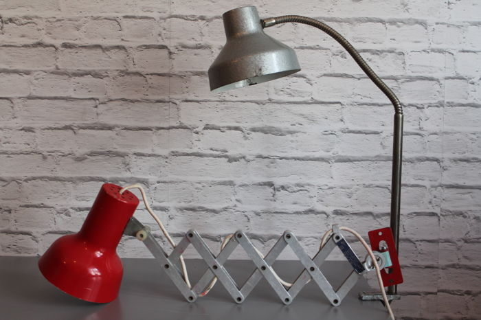 Unknown designer - Pair Industrial Lamps