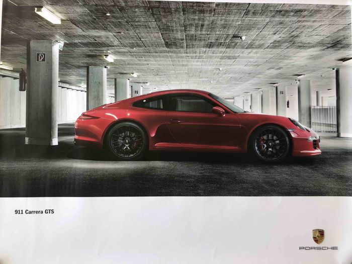 Original - Advertising poster for Porsche 911 Carrera GTS - 2014