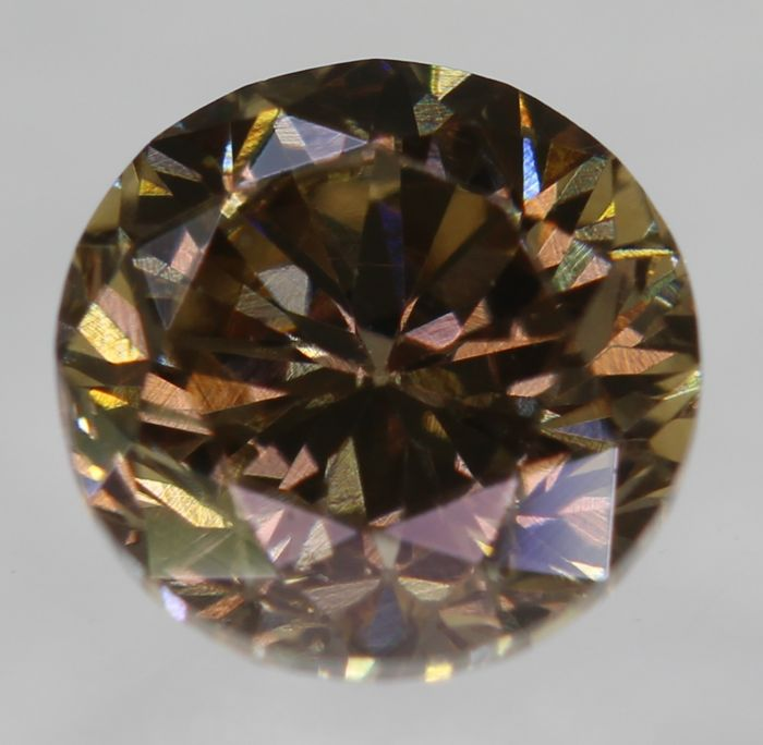 0.49 ct, VVS2 ***, round brilliant, F. Intense Brown, low reserve price
