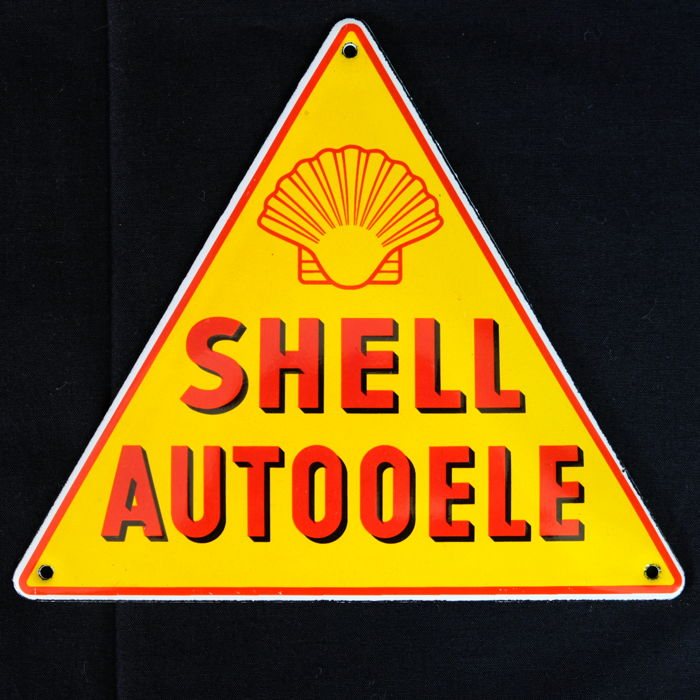 Shell emaille logo  - auto oele  -