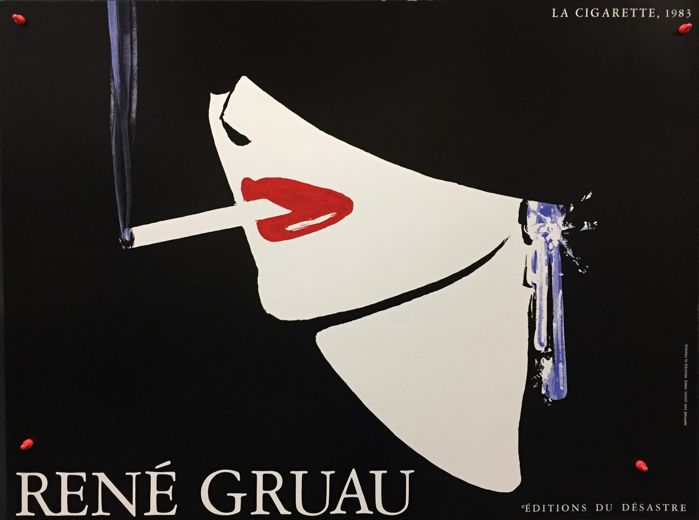 Rene Gruau - The Cigarette - 1983