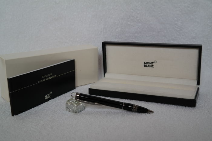 Montblanc Star-walker Ball point  Stainless Black Lacquer Pen  (in brand new  AAA Condition &selling for highest offer  )