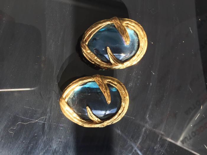 YSL - Earrings - Vintage