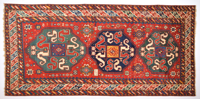 Caucasian Wolkanband Rug Size 130 x 275 cm