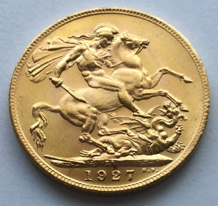 Sudafrica - Sovereign 1927 SA George V. - Oro