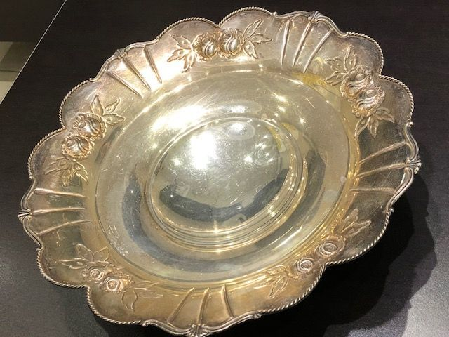 Centrepiece/Tray in silver 800 - handmade in Italy in the 20th century