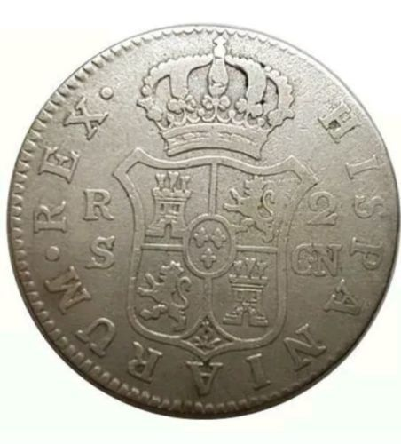 Spain - Carlos IV, 2 Reales Seville 1801 (Assayer CN) - 26 mm / 5.6 g