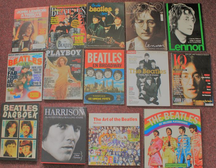 The Beatles; lot with 14 books & magazines - 1975/2004