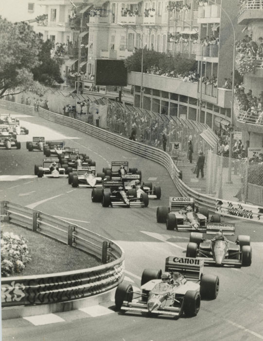 1987  Monaco Grand Prix Williams Ferrari Start   Michael Hewett original photograph