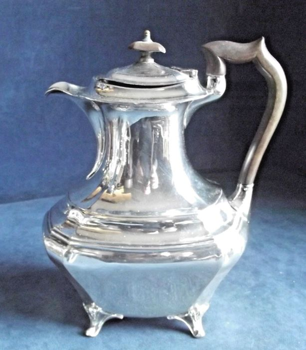 Large silver plated water pitcher/wine carafe, by James Deakin, ca. 1900